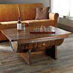 handmade vintage oak whiskey barrel coffee table accent small rectangular outdoor bedroom set expandable dining unfinished wood dresser modern pedestal industrial tall narrow 150x150