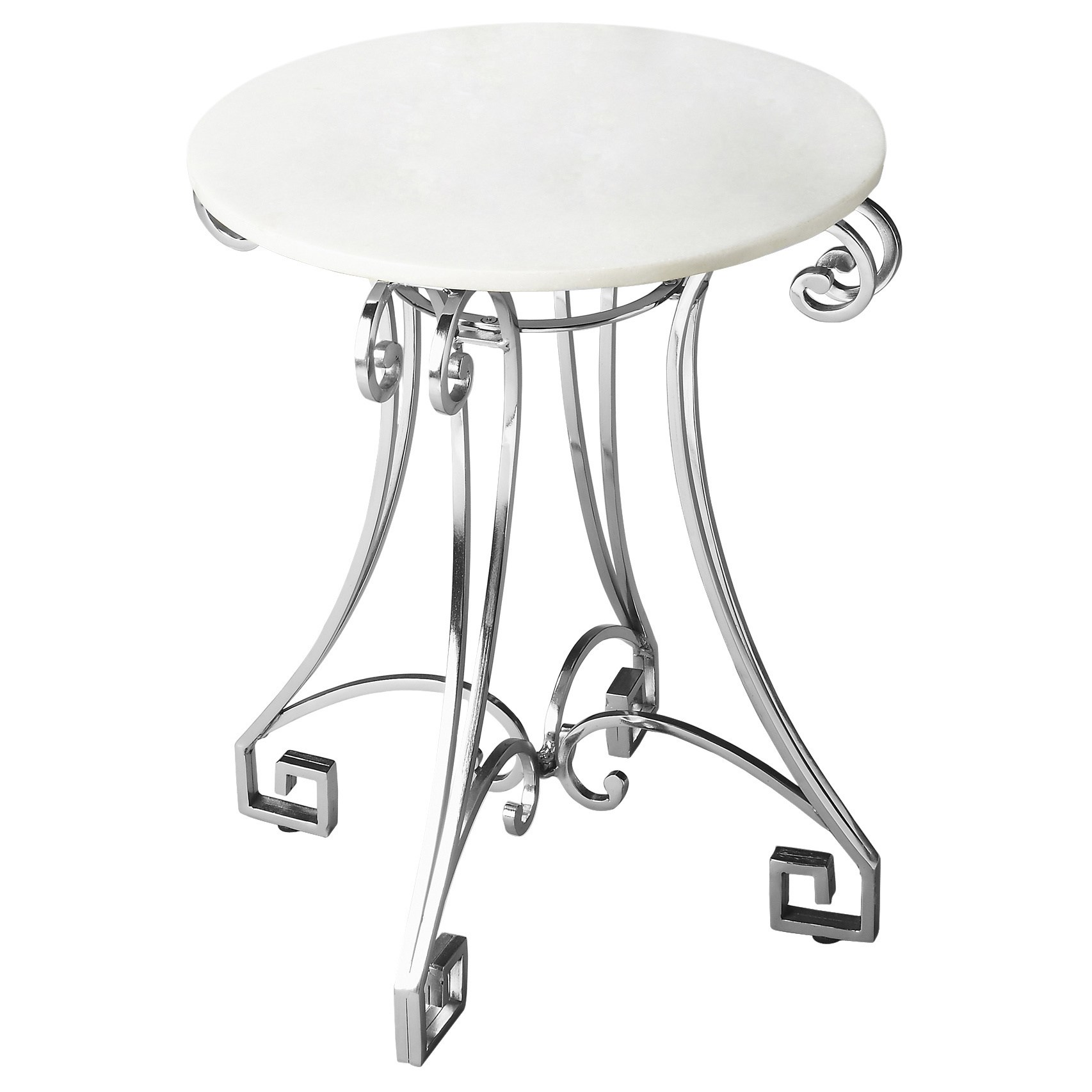handmade white marble top silverton iron base end table marbletop accent free shipping today high bamboo coffee brass legs for small dark wood telephone solid tables green bedside
