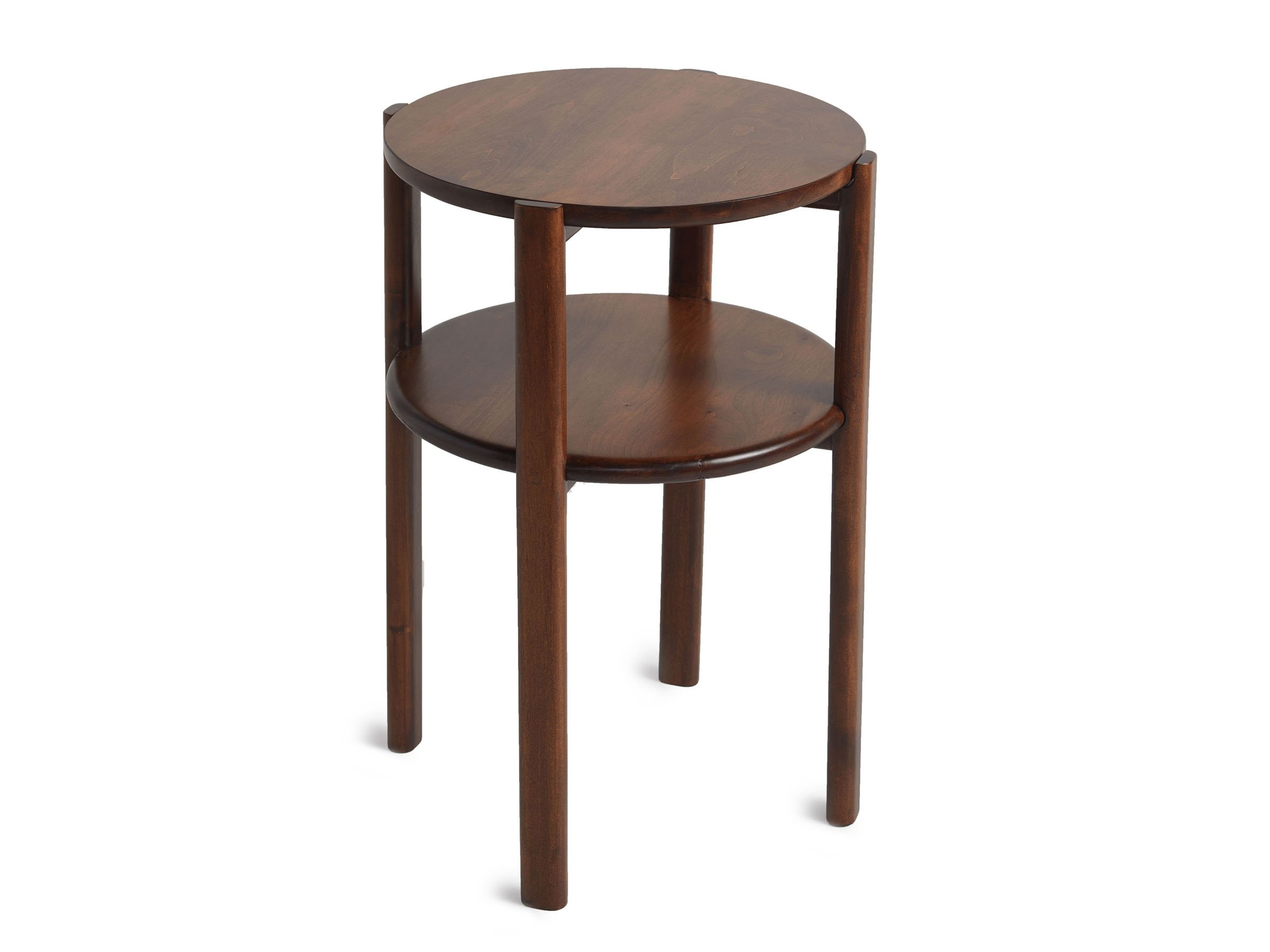 handmade wood side table parachute walnut finish outdoor west elm acorn ikea pot rack small garden and chairs antique ship lights oak glass lawn mowers long centerpieces tiffany