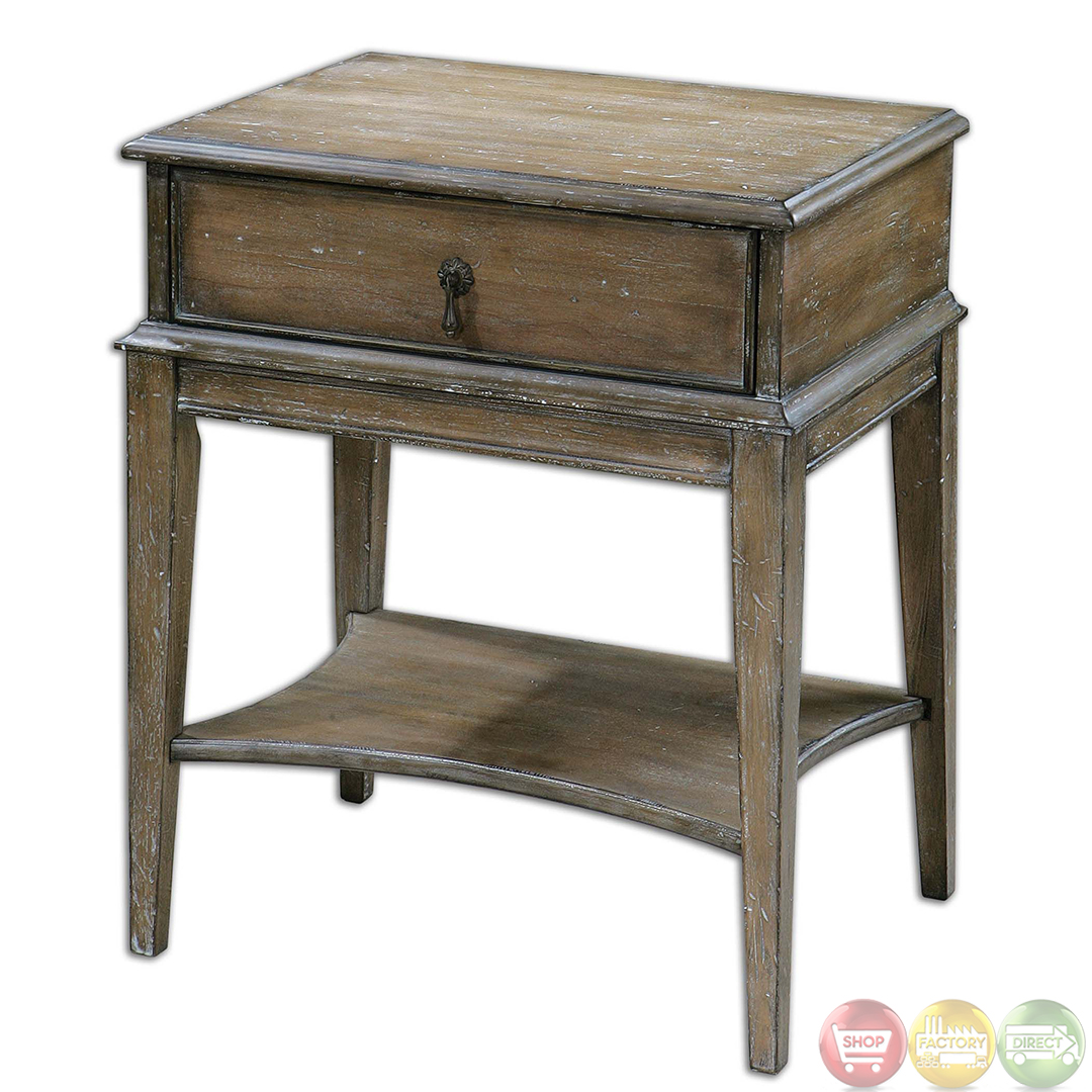 hanford country rustic weathered pine accent table ashley round end tables ultra modern lamps small plastic side retro kitchen chairs frame short legs counter height dining set