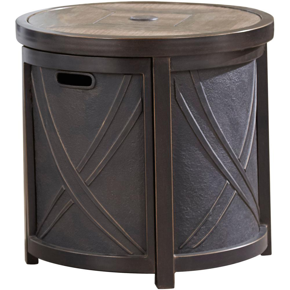 hanover aluminum outdoor side table with tile tabletop and tables hanumbtbl rnd umbrella hole counter height chairs glass brass end rose gold wall antique two tier espresso