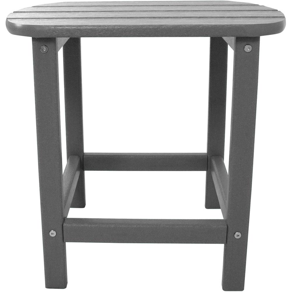hanover grey all weather patio side table the outdoor tables small round silver white ceramic lamp plastic pub style height pier gift card entryway blanket box ikea nautical