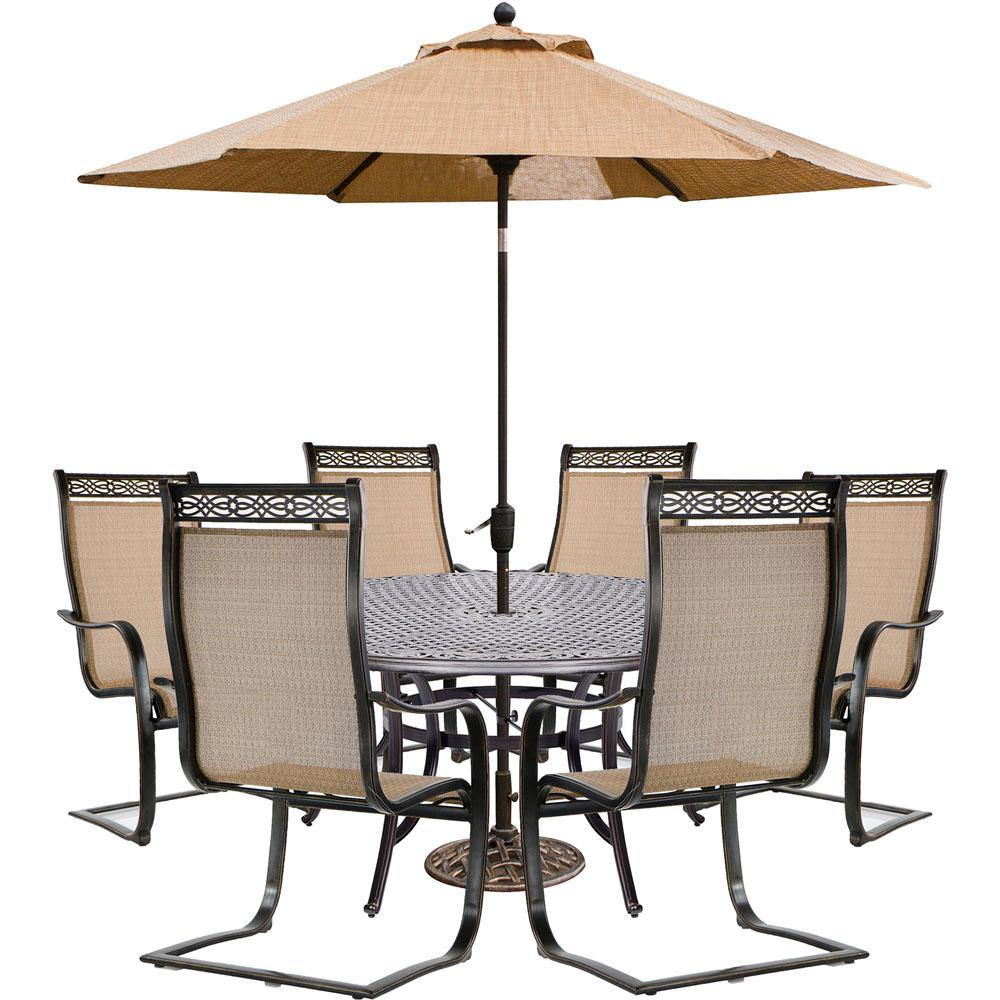 hanover manor piece sling outdoor dining set with spring patio sets threshold umbrella accent table chairs cast entrance contemporary glass lamps pier living room porch tables