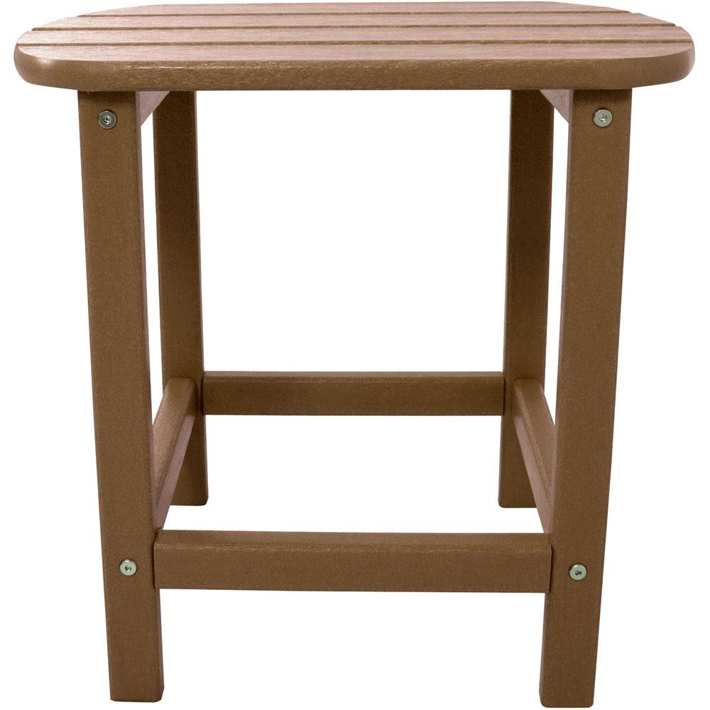 hanover teak all weather patio side table the outdoor tables target metal accent dresser lamps tall hairpin legs diy furniture oval vintage bedside screw wooden wicker storage