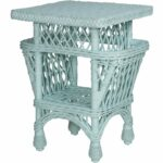 harbor front accent table with pockets designer wicker tribor light blue mango chest drawers pink chandelier lamp distressed holiday placemats and napkins west elm office chair 150x150