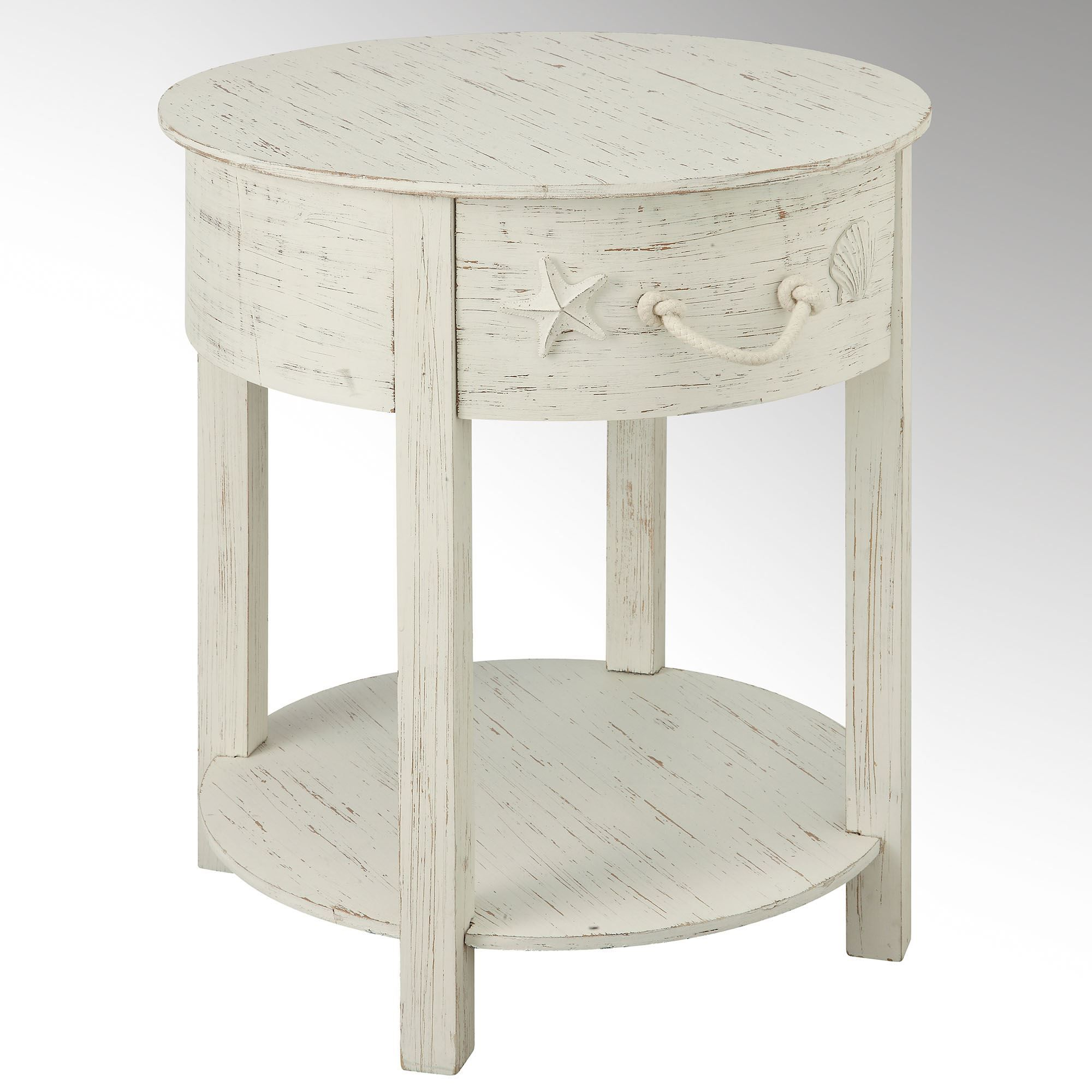 harbor main distressed white coastal accent table ideas for the cherry finish side elegant dining room furniture king bedding sets chair with usb port small black console wall