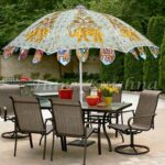 hare krishna large garden parasol round outdoor resort umbrella spring haven accent table inches occasional chairs next sei mirage mirrored stainless steel ceiling curtain rod 150x150