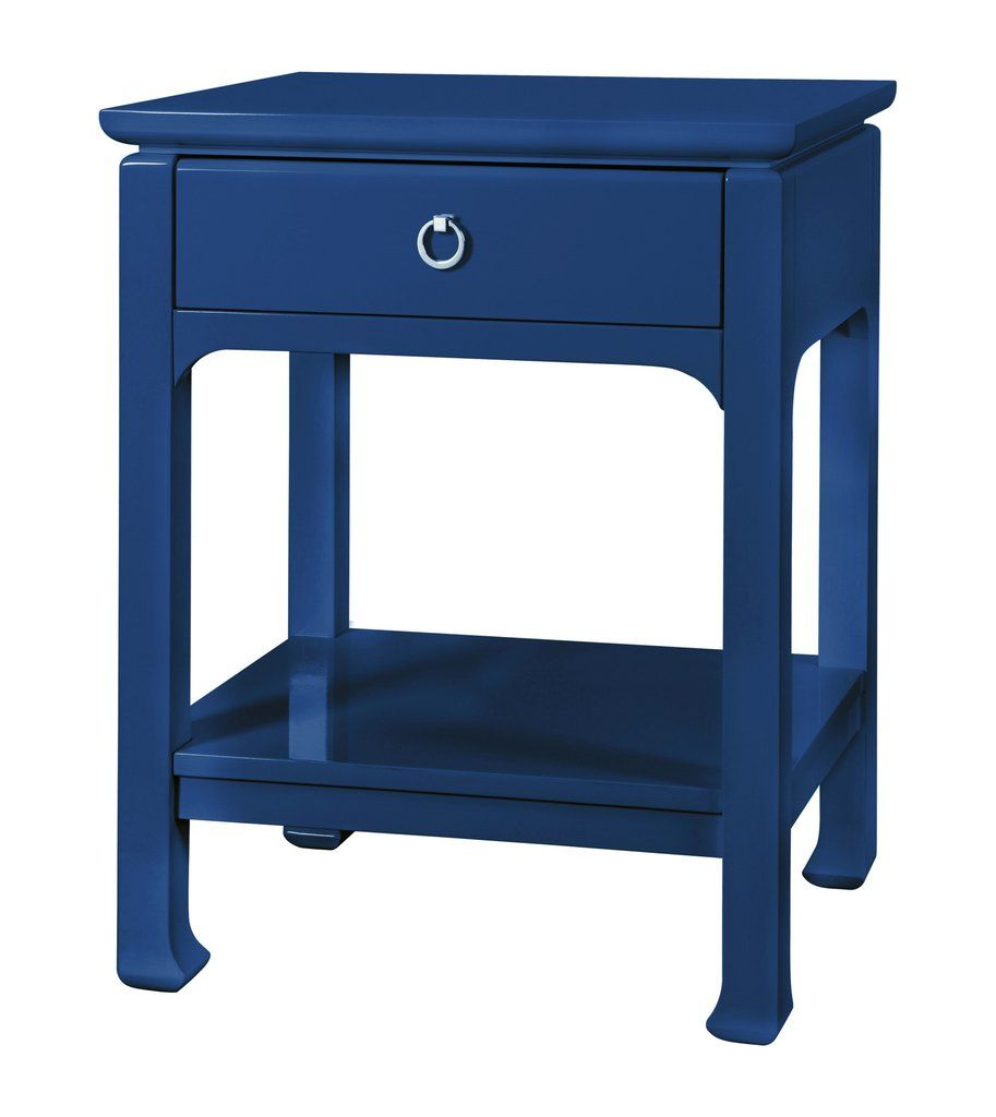 harlow drawer side table navy design bungalow accent bedroom furniture square ott coffee thin entrance large glass dining dresser cabinet antique round occasional garden with ice