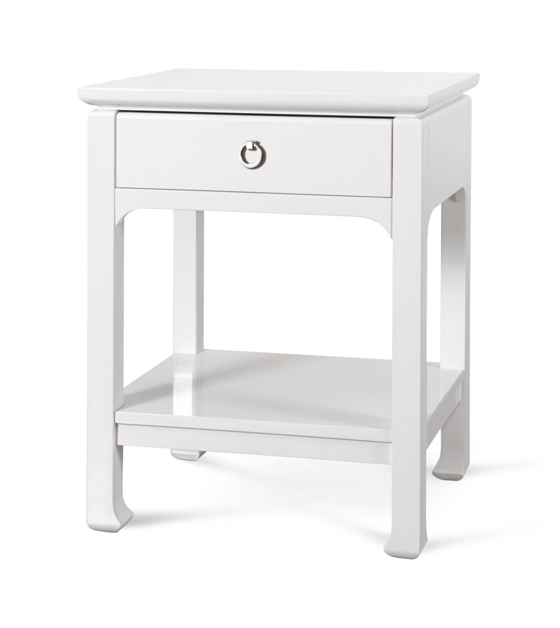 harlow drawer side table white design bungalow burke decor har accent verizon hallway target lamps for living room extra large gray brown end tables lanai furniture building barn