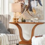 harp console decorative accent tables classic living room when you want piece with little more presence for formal entryway art filled hall our exclusive worth modern glass coffee 150x150