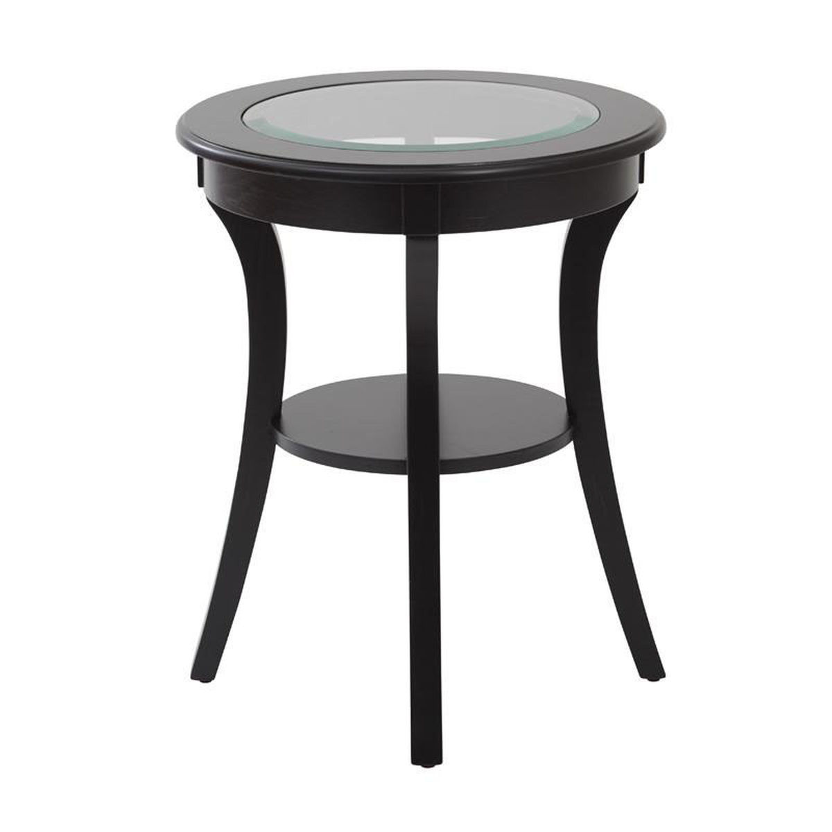 harper black glass accent table bizchair office star products round our osp designs top with wood finish and shelf white lacquer side modern coffee drawers narrow console shelves