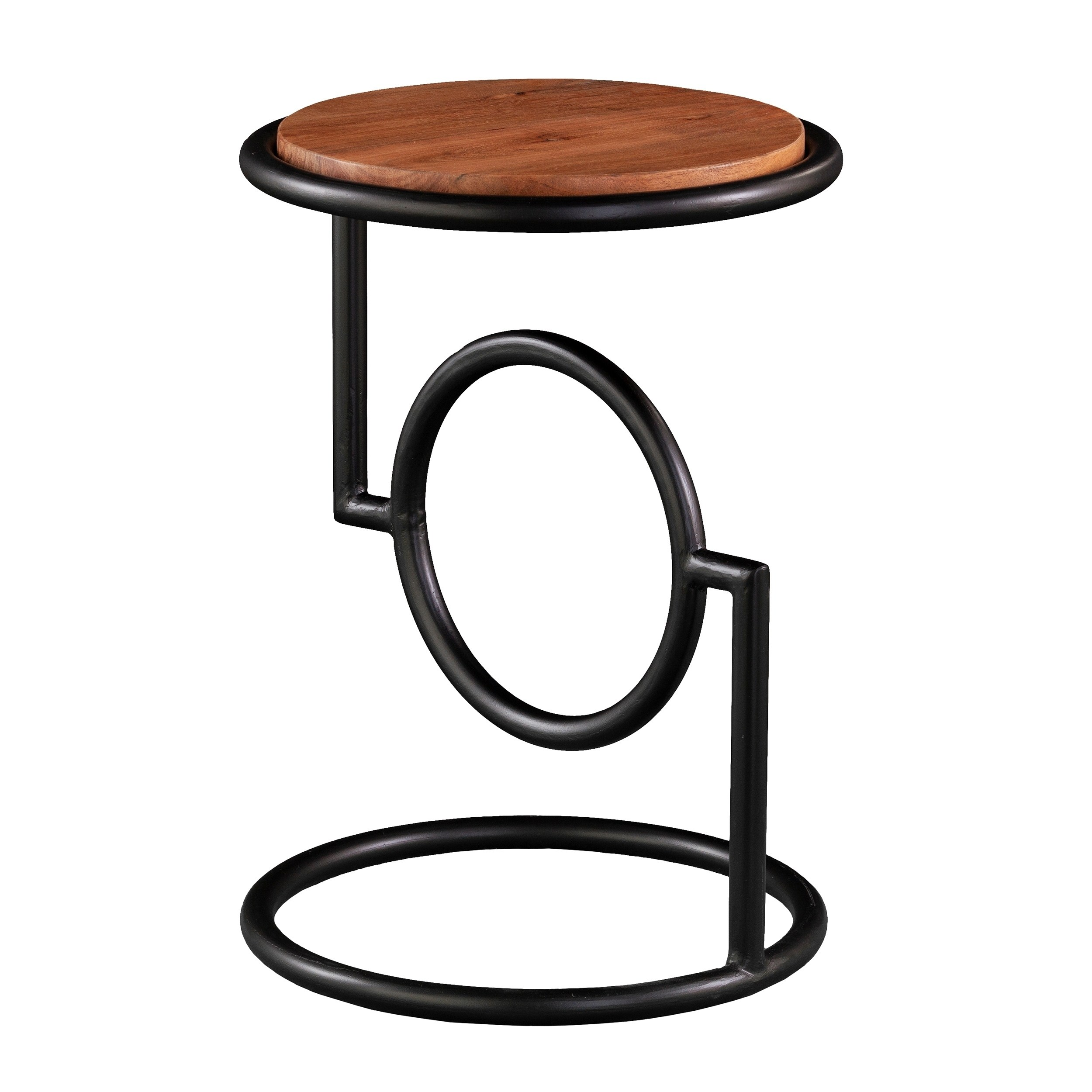 harper blvd bera round accent table mango wood top free shipping today hampton bay woodbury outdoor sideboards and buffets market umbrella adjustable height side iron company home