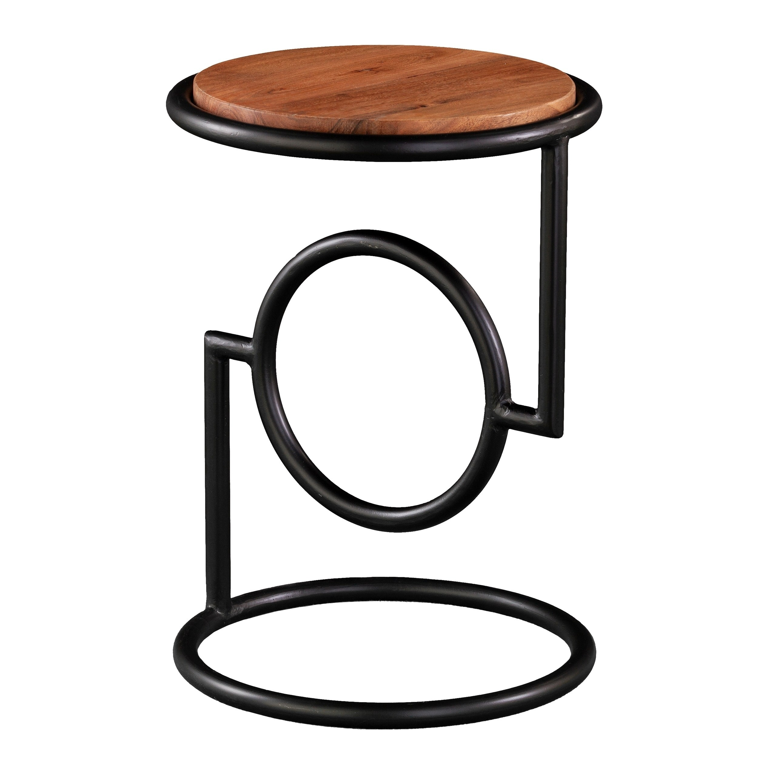 harper blvd bera round accent table mango wood top free shipping today outside patio mats and coasters iron company adjustable height side drum chairs with back modern crystal