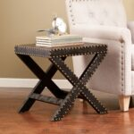 harper blvd black reptilian nailhead accent table free shipping upton home with nailheads today square metal end bistro set mirrored bedside lamps uma console day island county 150x150