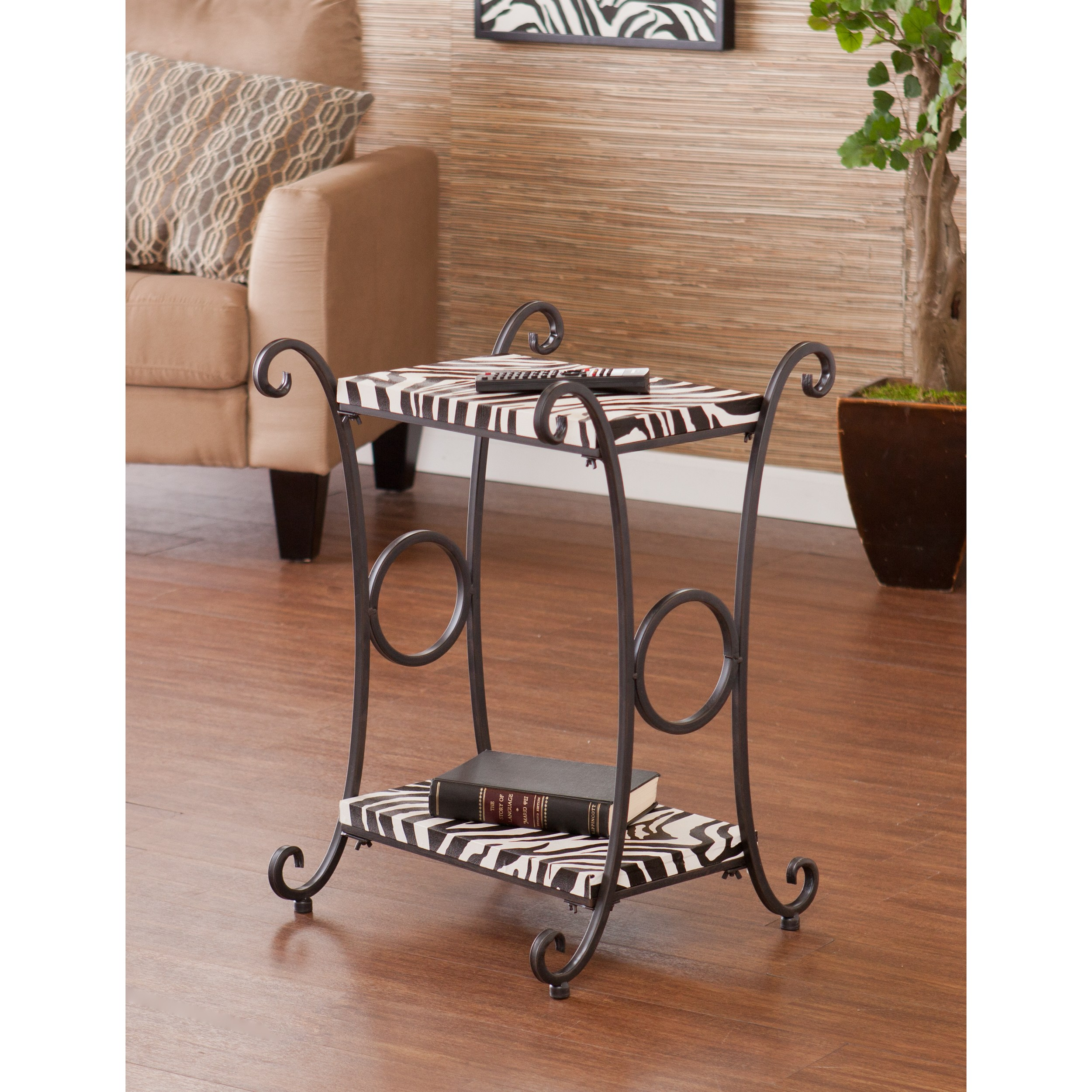 harper blvd castell zebra animal print accent side table upton home multi free shipping today contemporary entry decorative metal legs modern interior design ideas hampton bay