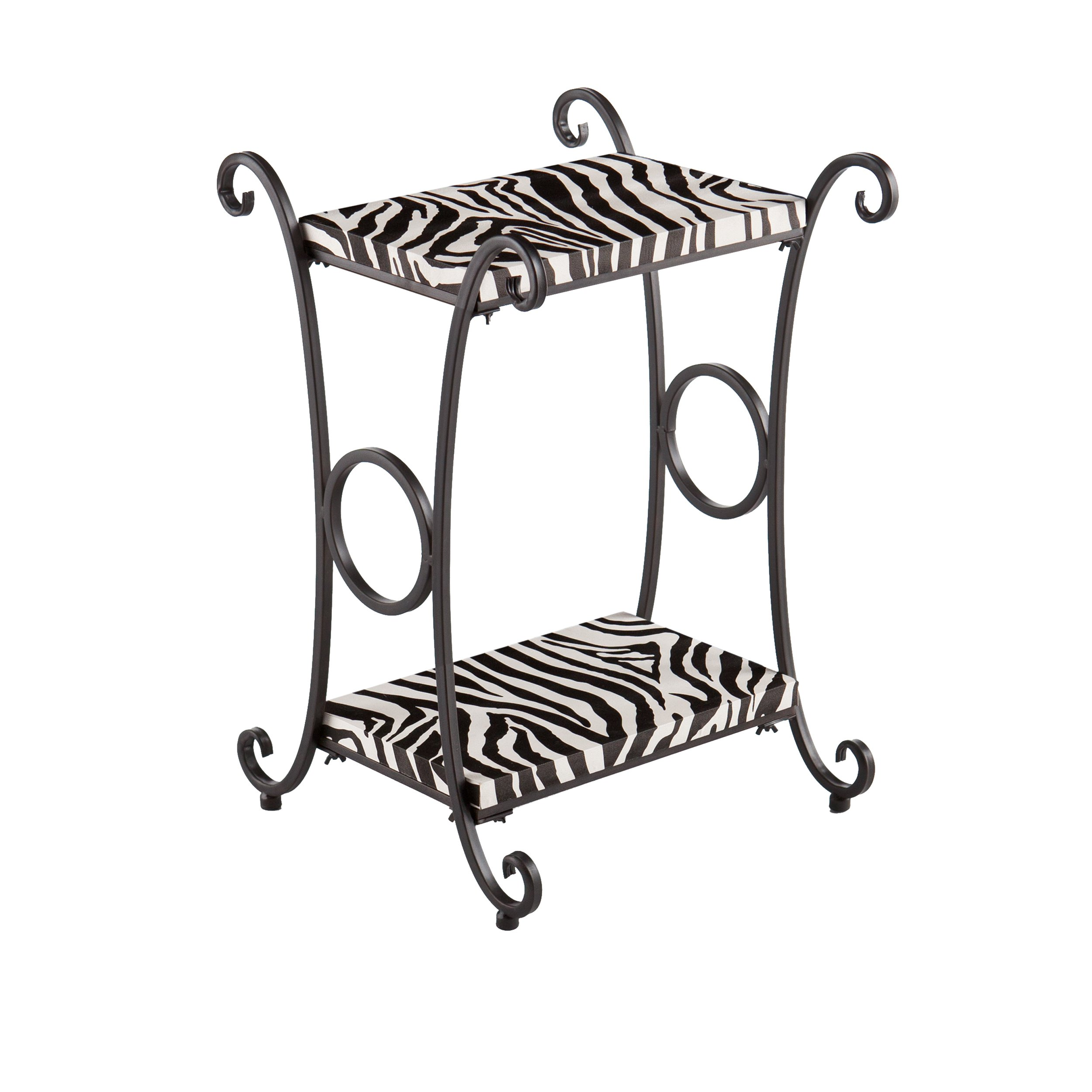 harper blvd castell zebra animal print accent side table upton home multi free shipping today small black lamp faux marble end nate berkus vitra style chair trestle bench rustic
