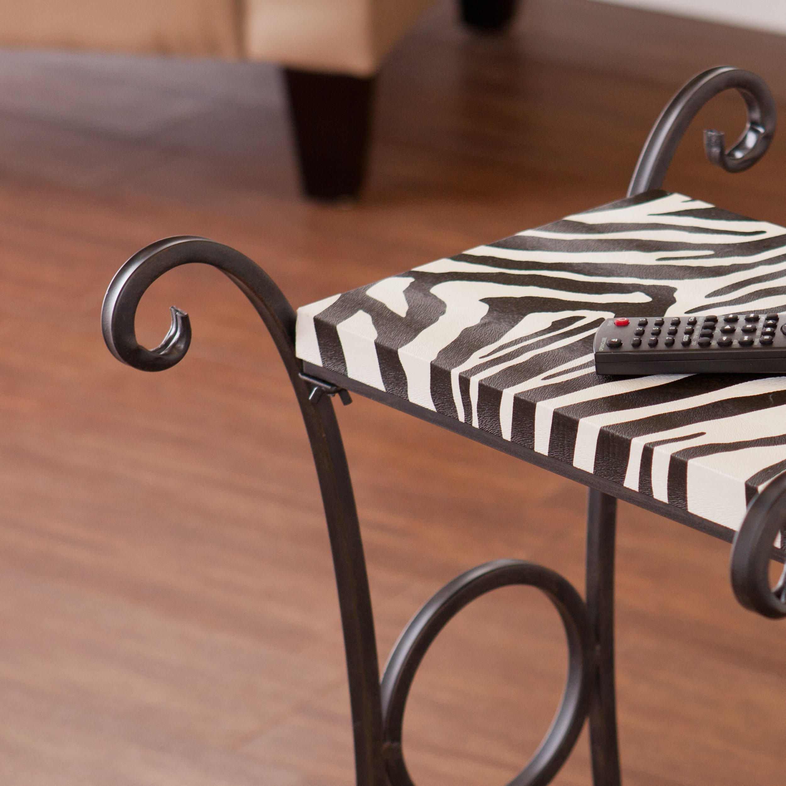 harper blvd castell zebra animal print accent side table upton home multi free shipping today waterproof phone pouch target west elm small balcony furniture sets corner nate