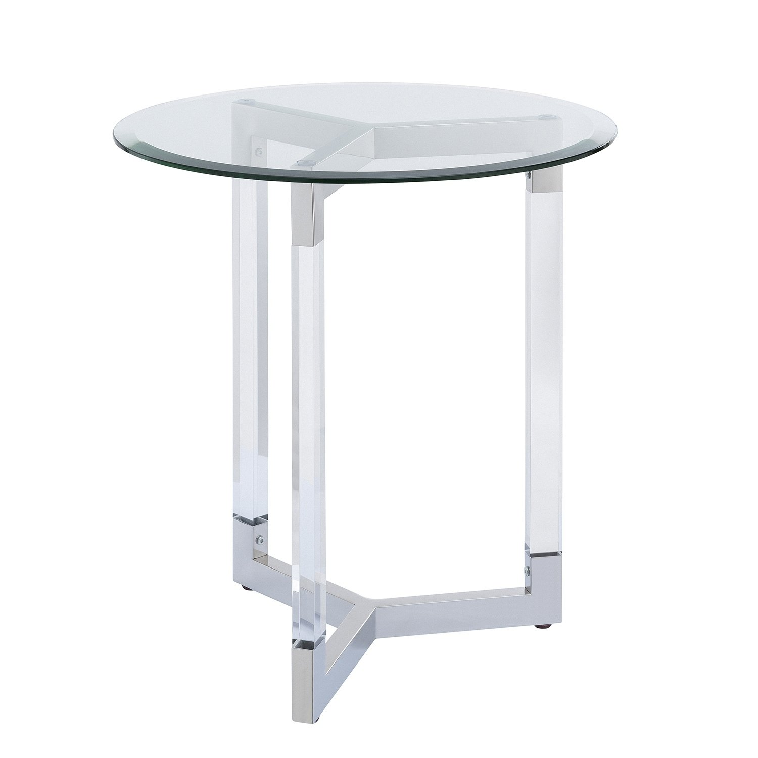 harper blvd dauphine round acrylic accent table with glass top black free shipping today wisteria furniture home wall decor wine cube covers mini sofa end tables pedestal teal