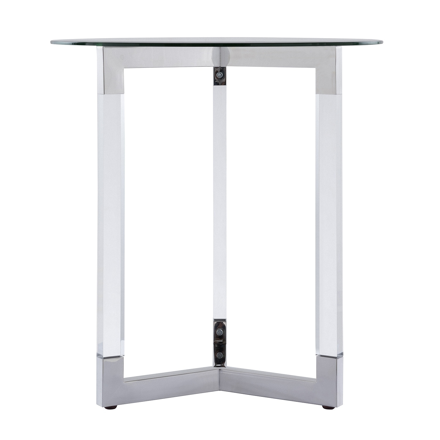 harper blvd dauphine round acrylic accent table with glass top free shipping today slim end tables target kidney side outdoor patio seating rectangle umbrella adjustable height