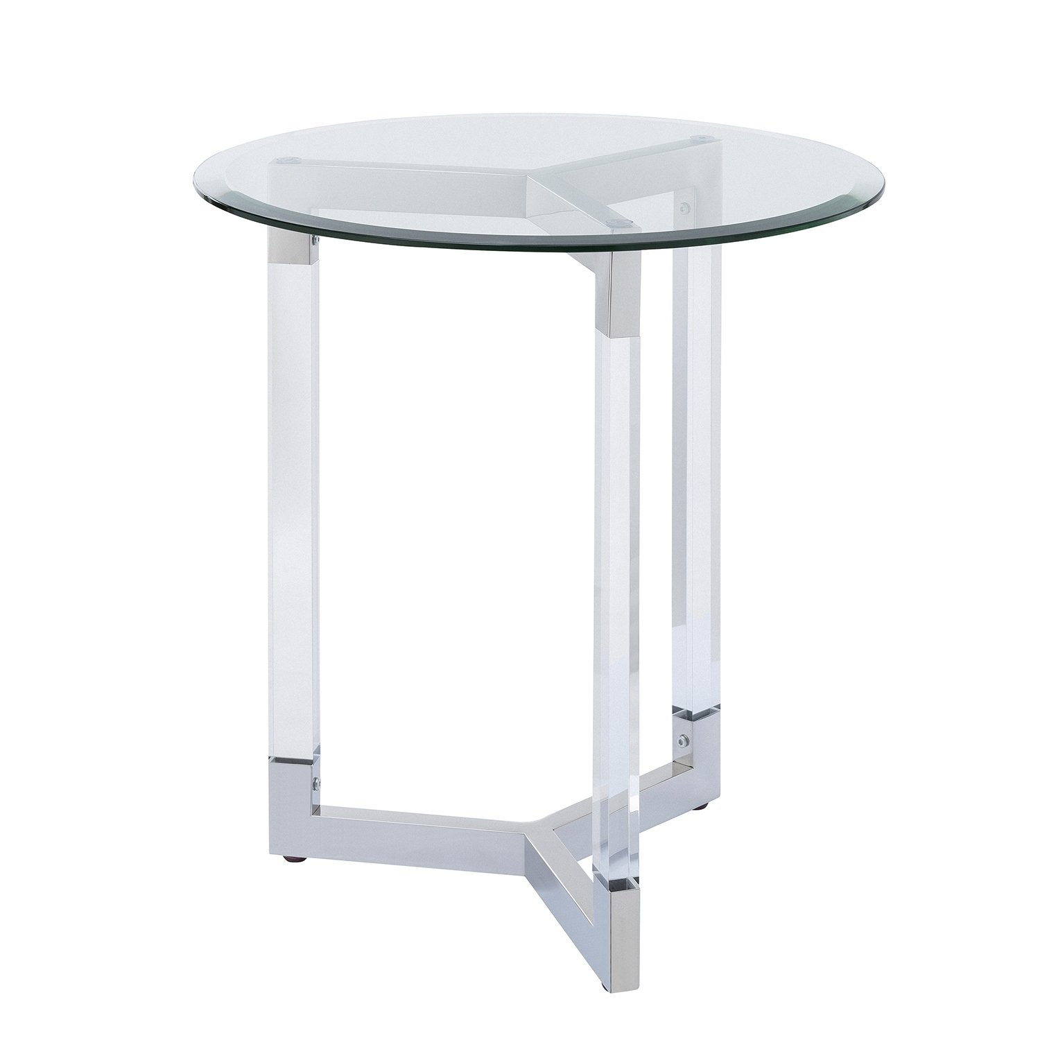 harper blvd dauphine round acrylic accent table with glass top free shipping today small square coffee storage unique couches blue bedside baby relax glider outdoor sideboards and