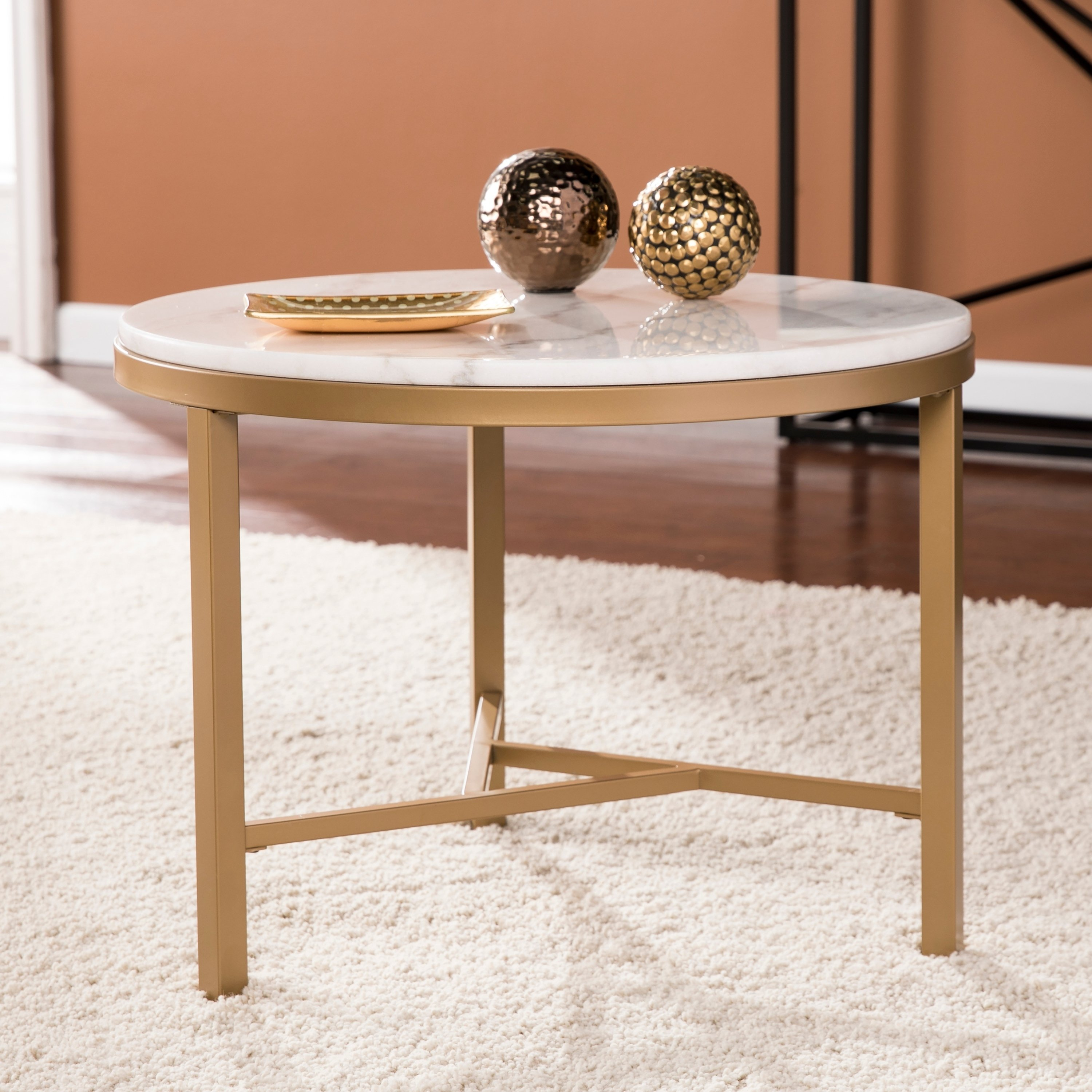 harper blvd garzeaux champagne ivory marble accent table free shipping today modern side lamp kitchen door knobs ikea kids storage diy narrow console windham coffee bronze blue