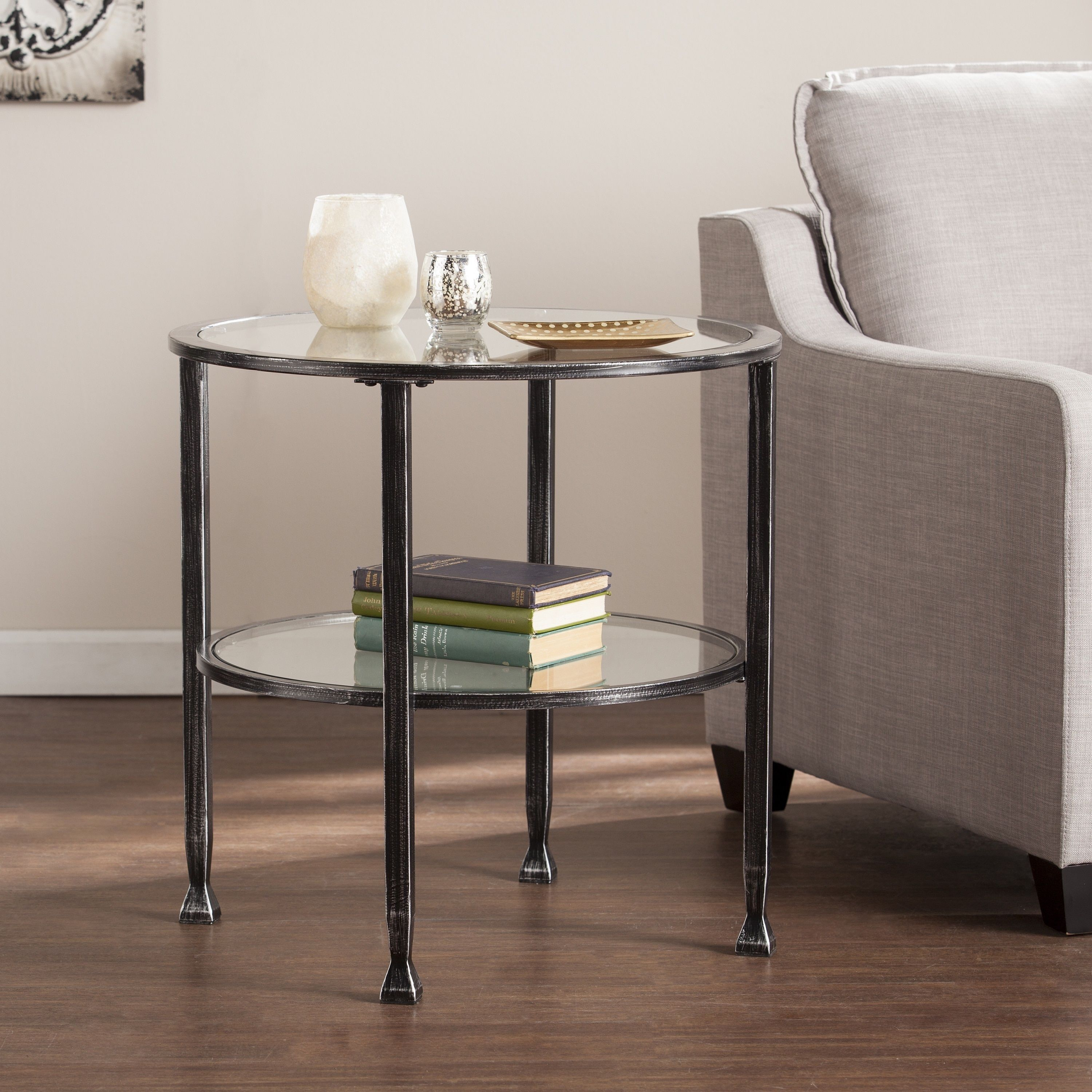 harper blvd jensen metal glass round end table black wood and accent dining room light fixtures cool bedside lamps inexpensive chairs furniture for the home teal placemats napkins