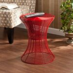 harper blvd kayden indoor outdoor red metal accent table upton home free shipping today goods wall art target marble round cocktail cloths windham console cherry wood coffee led 150x150