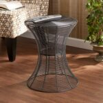 harper blvd kayden indoor outdoor silver metal accent table upton home free shipping today laminate threshold bar square patio coffee wood nightstand black modern side furniture 150x150