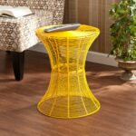harper blvd kayden indoor outdoor yellow metal accent table free shipping today black and white chair lucite gold coffee patio tables art deco lamps diy umbrella stand twisted 150x150