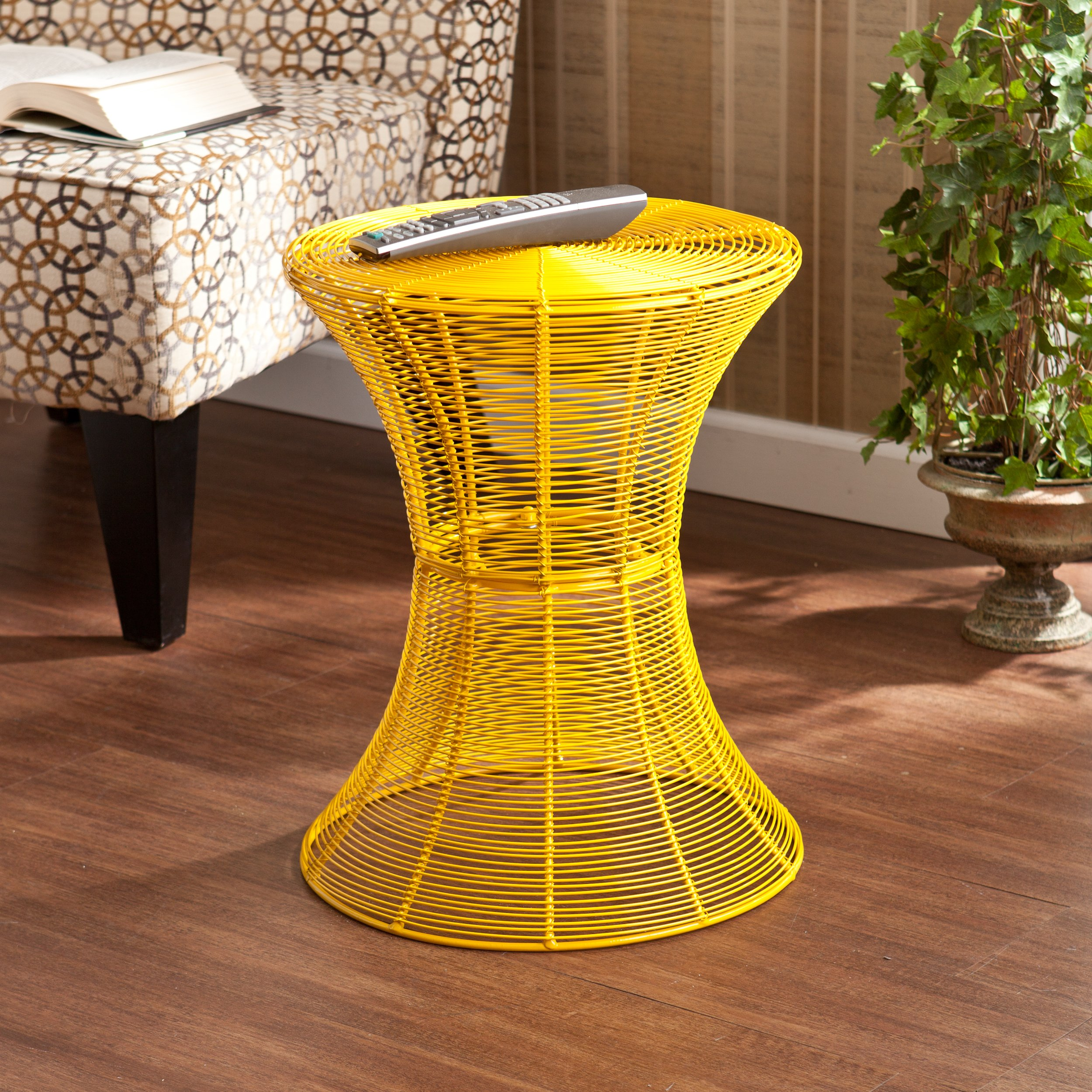 harper blvd kayden indoor outdoor yellow metal accent table free shipping today black and white chair lucite gold coffee patio tables art deco lamps diy umbrella stand twisted