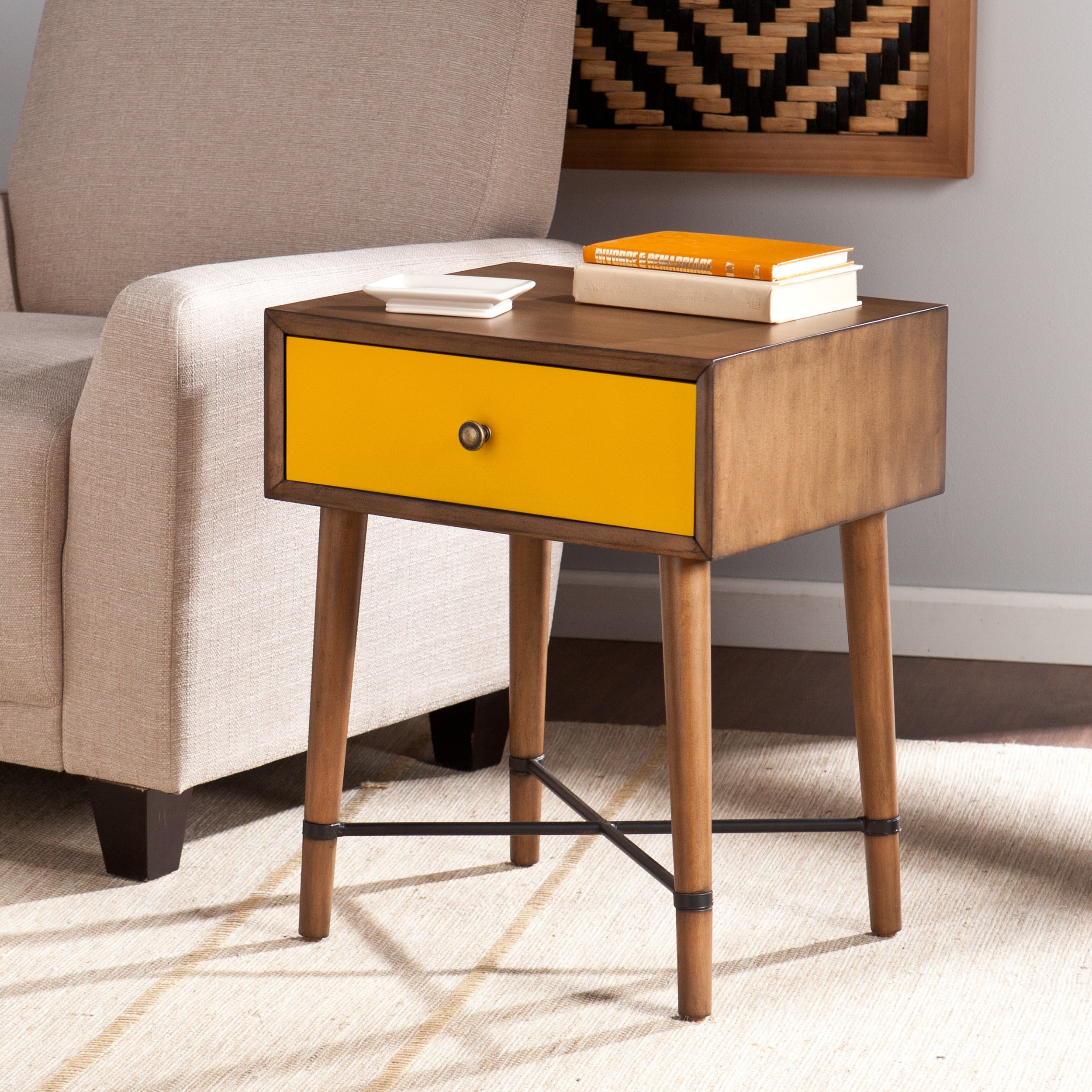harper blvd niles yellow accent table free shipping today inch legs bunnings outdoor settings round end halloween tablecloth live edge wood diy ideas patio furniture for small