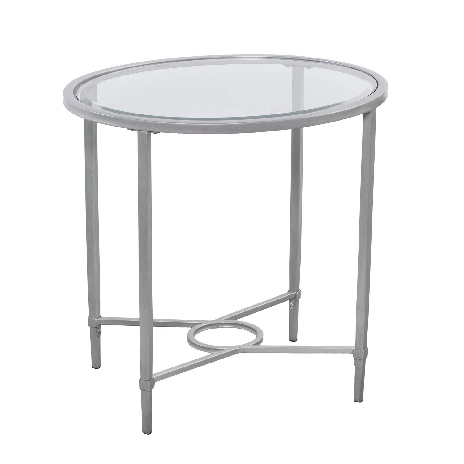 harper blvd quaker metal glass oval side table silver round wood and accent kitchen dining farnichar tray top end hardwood door threshold wedding tablecloths furniture for the