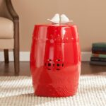 harper blvd salinas poppy red ceramic indoor outdoor accent upton home table stool garden free shipping today bedroom furniture runner battery powered dining lamp hexagon decor 150x150