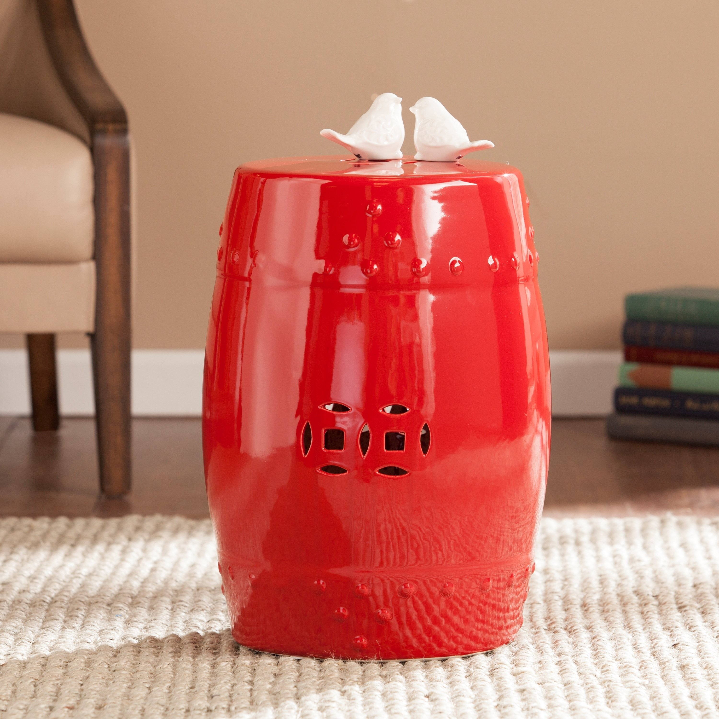 harper blvd salinas poppy red ceramic indoor outdoor accent upton home table stool garden free shipping today bedroom furniture runner battery powered dining lamp hexagon decor