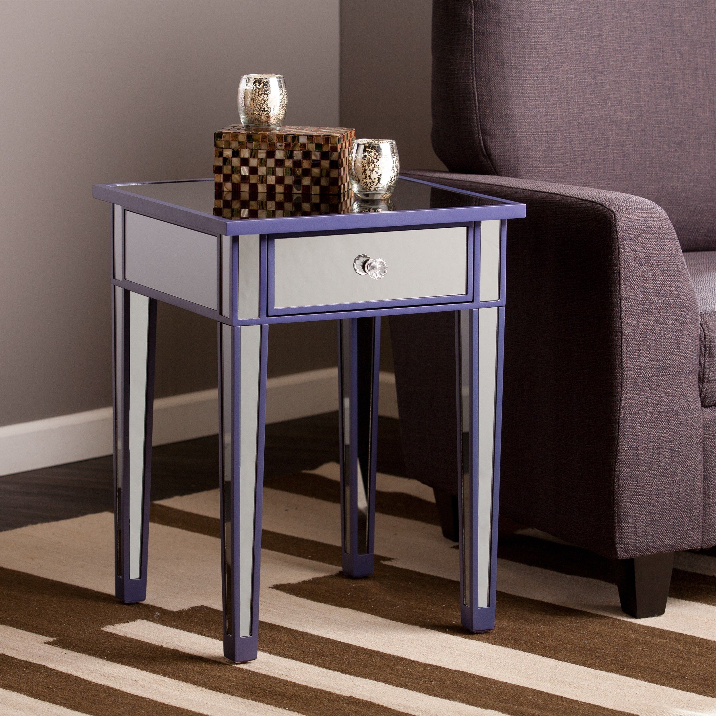 harper blvd sutcliffe purple color mirror accent table free upton home tables with matching mirrors shipping today modern dressing black piece set nate berkus sheets carved wood