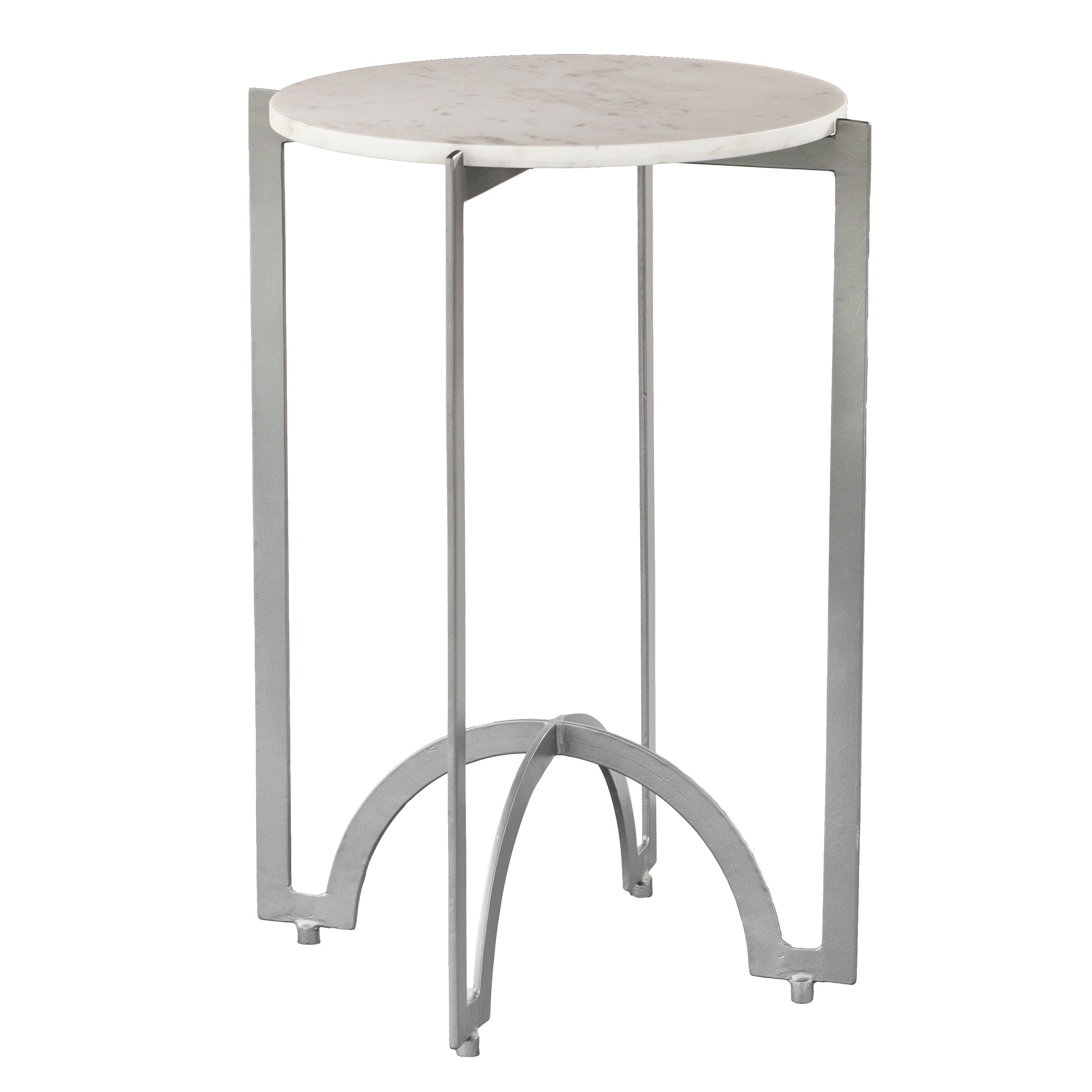 harper blvd therra round metal accent table marble top free shipping today dinner rattan outdoor furniture clearance canvas patio umbrella large grey lamp fold wrought iron