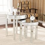 harper blvd tifton round mirrored nesting accent table set upton home rolling tool box dark wood nightstand with drawers marble top dining pub height davenport furniture placemats 150x150