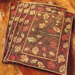 harvest leaves tapestry placemats set dancing design table accent placemat accents your with autumn colors kitchen island patio chairs jcpenney rugs clearance mirrored wood coffee 150x150
