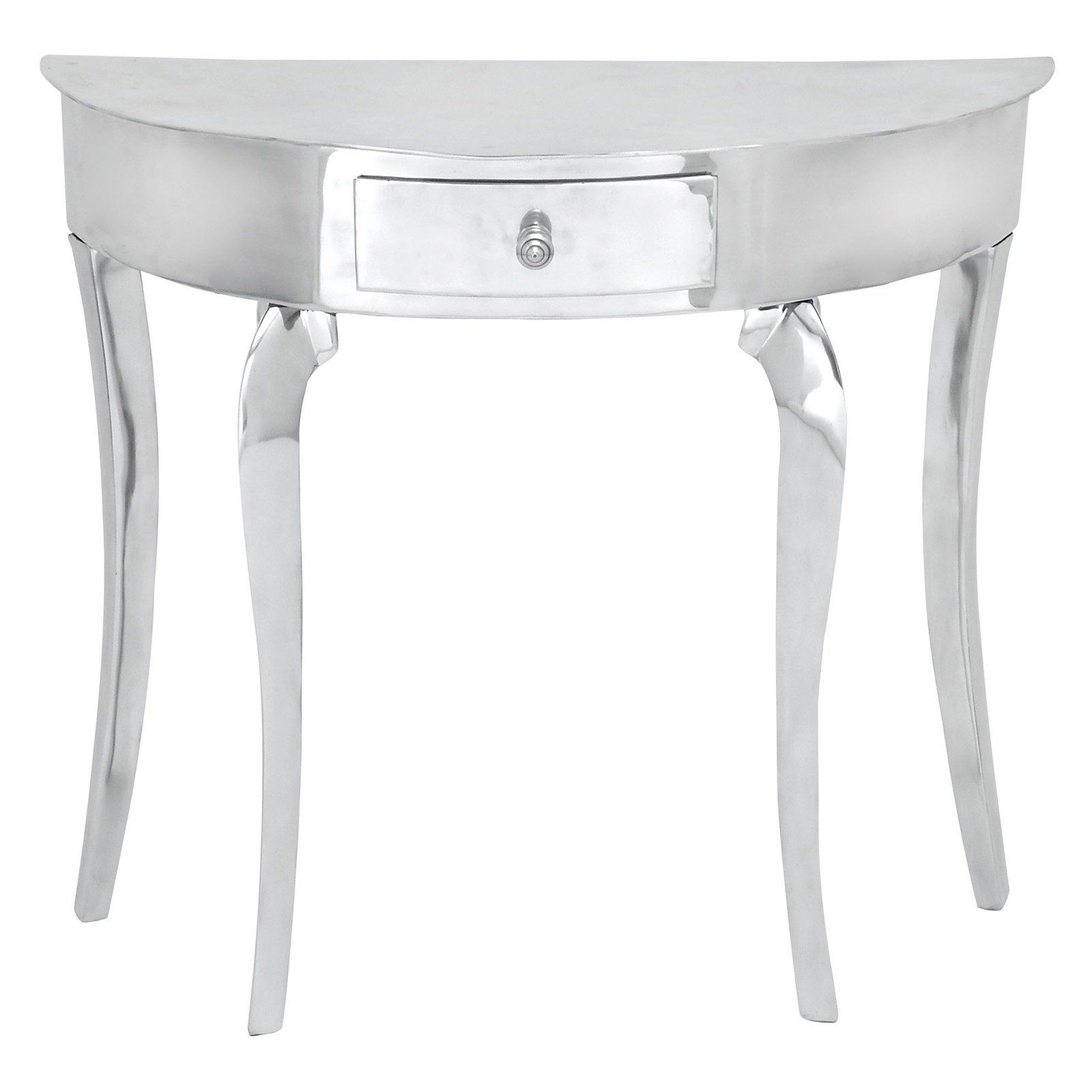 have aspire aluminum half moon console table white accent outdoor drinks cooler retro nest tables ikea shelving ideas dale tiffany ceiling lights corner cabinet hobby lobby