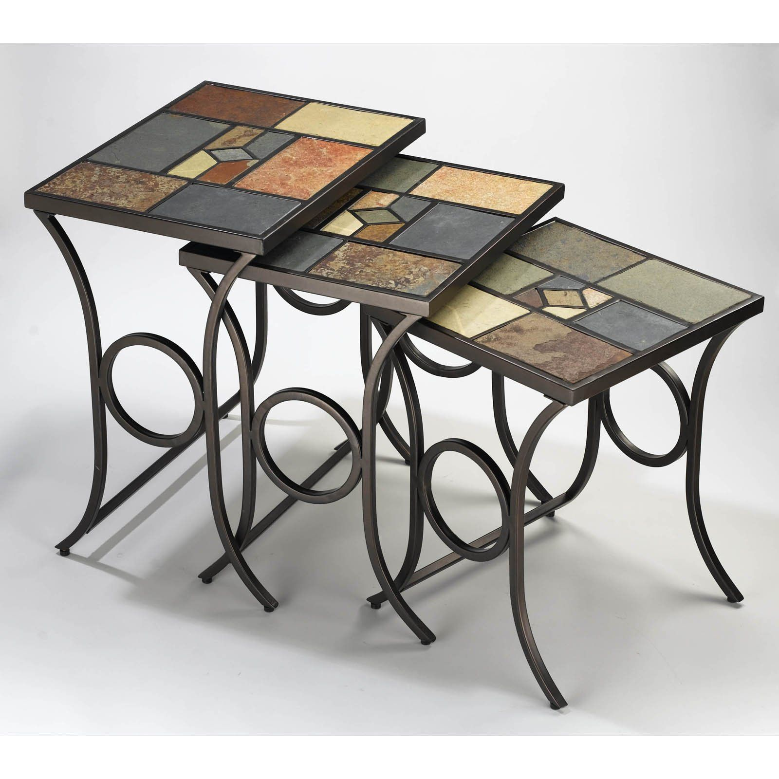 have hillsdale pompei nesting tables for the mosaic accent table kohls garden bench bunnings butler desk furniture union jack target vases square side counter height bedside ideas