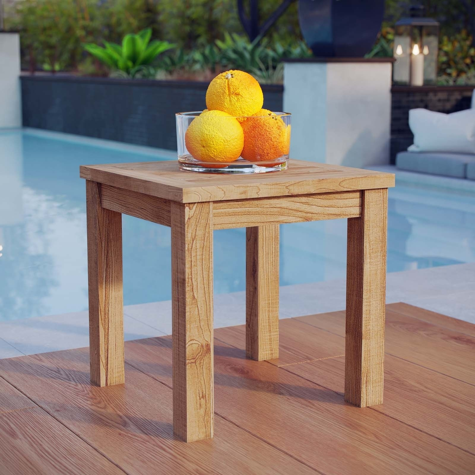 havenside home pocasset outdoor teak side table free shipping pier patio natural wood small today accent lamps contemporary one imports locations west elm mirrored goods entryway