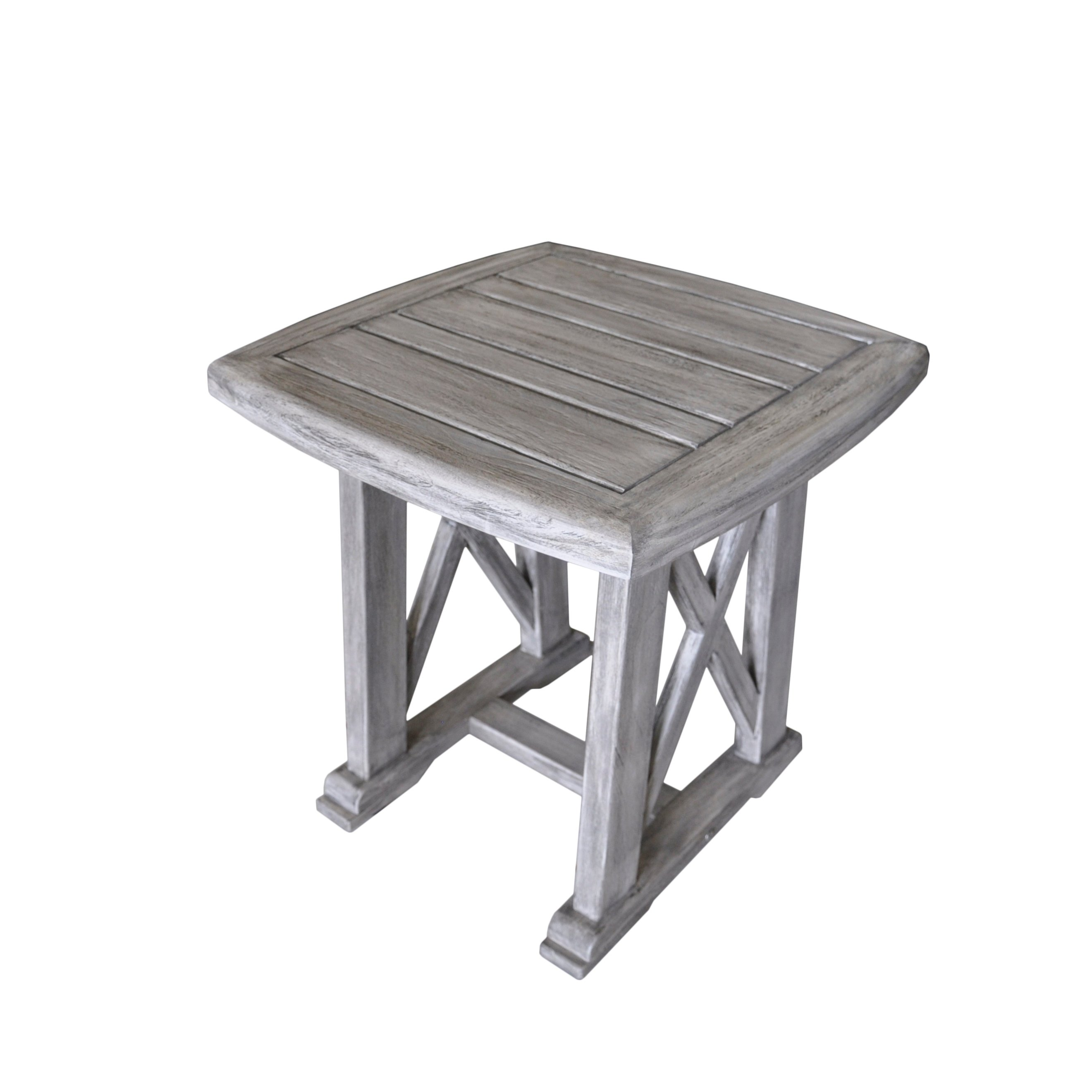 havenside home surfside driftwood grey teak deck end table courtyard casual gray surf side outdoor free shipping today and yellow rug high gloss unfinished dining legs mirrored