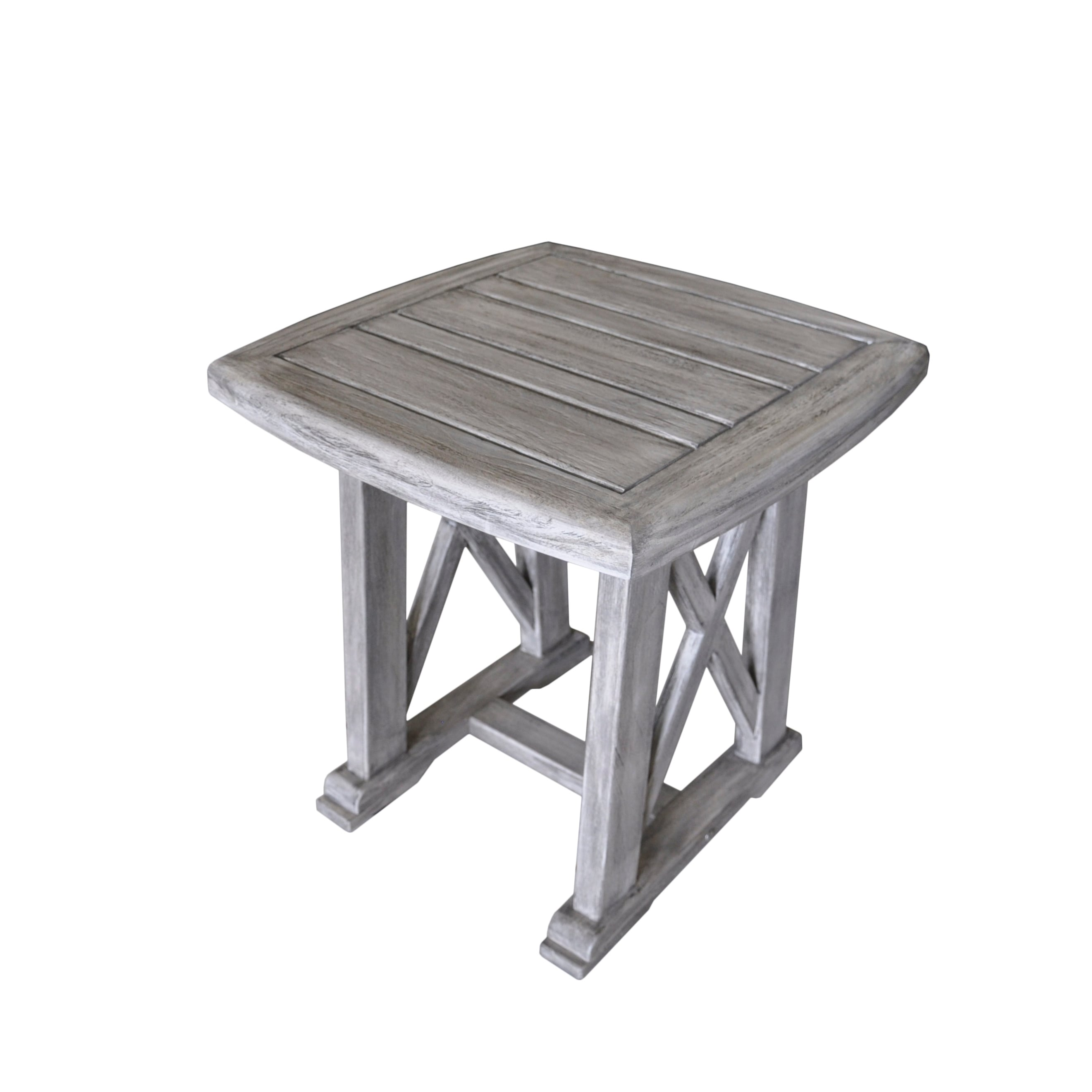 havenside home surfside driftwood grey teak deck end table courtyard casual gray surf side outdoor free shipping today small acrylic hallway furniture desk entry way waterproof