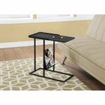 hawthorne ave accent table black metal with magazine rack holder hover zoom coastal lamps white ceramic side target bedside glass door cabinet top coffee doors battery operated 150x150