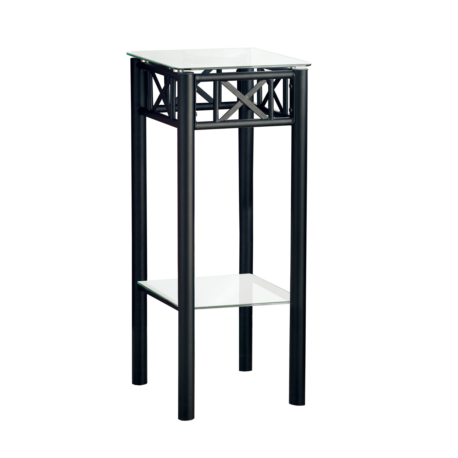 hawthorne ave accent table black metal with tempered glass top bronze hover zoom brass ball lamp steel side cordless floor rechargeable small for bedroom nest furniture outdoor