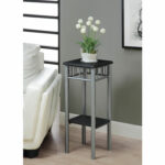 hawthorne ave accent table black silver metal bellacor hover zoom outdoor furniture gold coast vintage brass and glass coffee tall small round inexpensive lamps red cabinet ikea 150x150