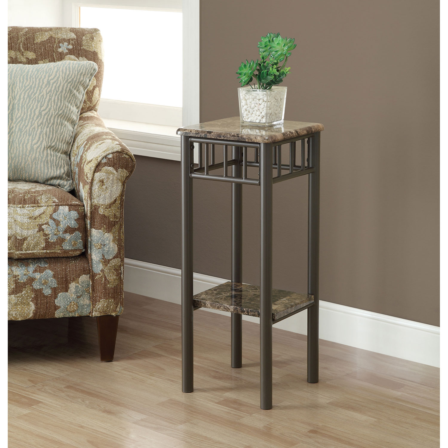 hawthorne ave accent table cappuccino marble bronze metal glass top hover zoom nautical kitchen corner furniture high bistro kirklands tables tiffany mission style lamps modern