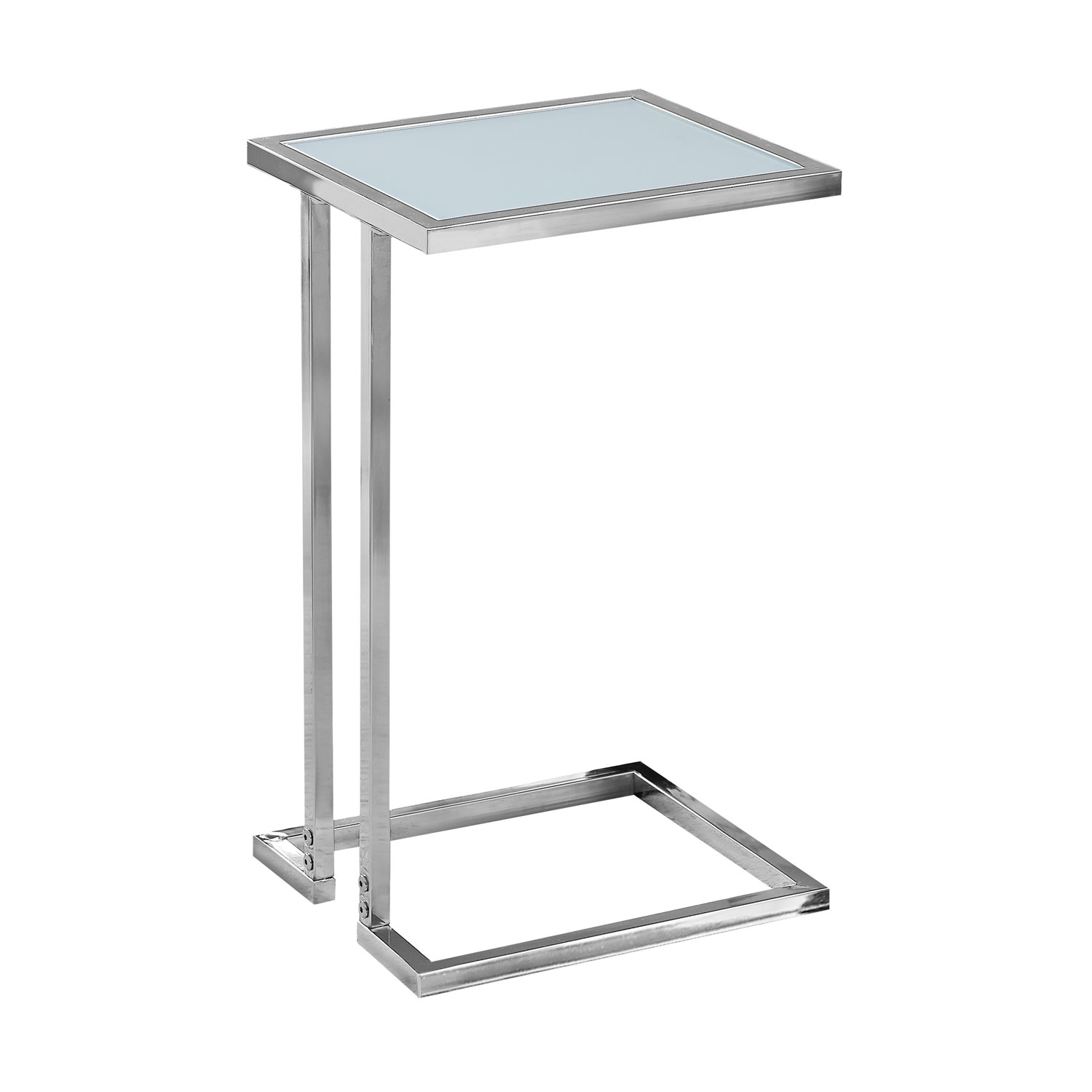 hawthorne ave accent table chrome metal with frosted tempered glass top hover zoom gold hammered watchers the wall ashley furniture coffee and end sets light fixtures target