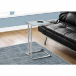 hawthorne ave accent table chrome metal with frosted tempered glass top hover zoom vita silvia black cube end shabby chic ture frames height tables heat resistant cloth venetian 150x150