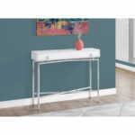 hawthorne ave accent table glossy white chrome hall console glass top bronze hover zoom pottery barn art teal blue coffee folding wood cordless floor lamp rechargeable corner 150x150